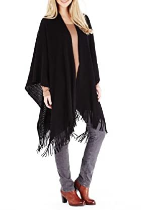 Cashmilon Tassel Trim Knitted Wrap [T01-8669T-S]