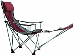 TravelChair Big Bubba High Back Folding Camp Chair with Footrest, Red