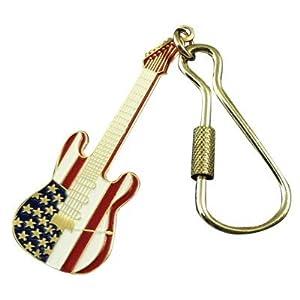 Stratford American flag guitar keychains Elec Guitar American Flag Keychain (japan import)