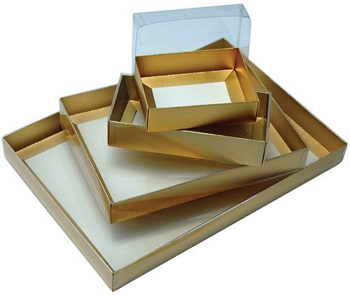 Presentation Box Gold 320L x 221W x 32H mm Solid Lid - Pack of 10 - APBS7