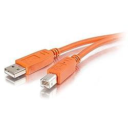 2m USB 2.0 A/B Cable - Orange (6.6ft)