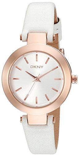 DKNY NY8835 - Reloj para mujeres, correa de cuero color blanco