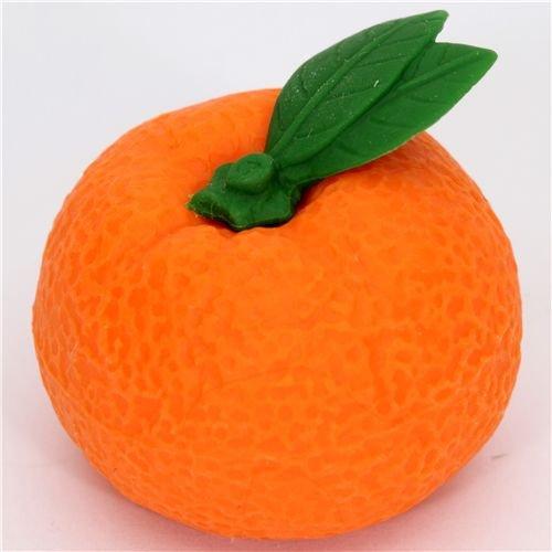orange tangerine eraser from Japan by Iwako