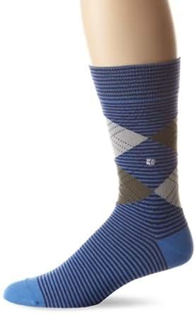 BOSS HUGO BOSS Men's Striped Argyle Sock, Blue, One Size