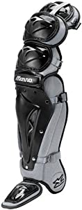 Mizuno Samurai G2 Shin Guards, Black/Grey, 15-Inch