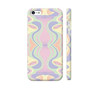 Colorpur Abstract Pastel Colors Designer Mobile Phone Case Back Cover For Apple iPhone 5 / 5s | Artist: Looly Elzayat