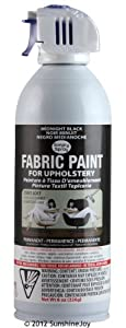 Simply Spray Upholstery Fabric Spray Paint Black Dries Soft
