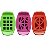 FunBites Set of Three - Green Squares, Pink Hearts & Orange Triangles - Cuts kids' food into fun-shaped bite-size pieces . . . Great for picky eaters and bento!
