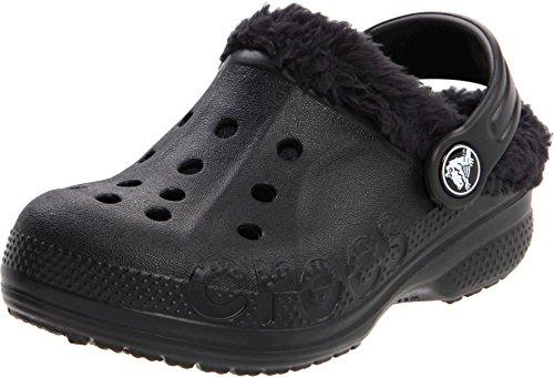 Crocs Kids Unisex Baya Lined Kids (Toddler/Little Kid) Black/Black Clog/Mule 6-7 Toddler M