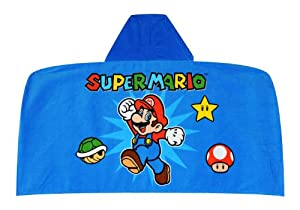 Nintendo Super Mario World The Game Continues Hooded Towel Wrap