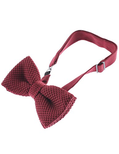 flatseven mens solid color knit bow tie pre basic