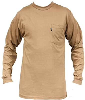 key 860 men 39 s heavyweight ls t shirt khaki