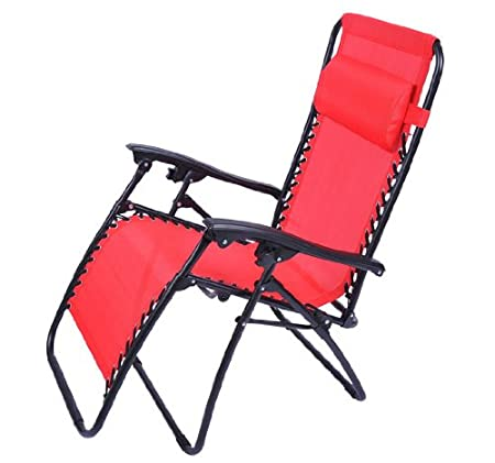 Outsunny Zero Gravity Recliner Lounge Patio Pool Chair - Fire Red at Sears.com