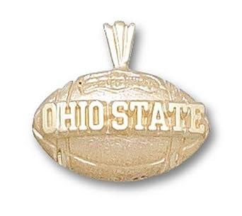 Ohio State Buckeyes Ohio State Football Pendant - 14KT Gold Jewelry by Logo Art
