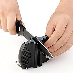 Beauty*Top*Picks Keramik-Messerschärfer, aus Wolframstahl, für das Zelten geeignet