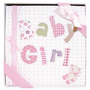 "Whimsical PINK BABY GIRL's First PHOTO ALBUM/Newborn Infant GIRL/HOLDS 72 Photos 4"" x 6""/Great BABY SHOWER or Christening Gift/IT'S A GIRL/New Moms"