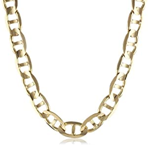 Men's 14k Yellow Gold 7.5mm Mariner Chain Necklace, 24
