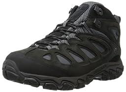 Merrell Men\'s Pulsate Mid Waterproof Hiking Boot,Black/Castle Rock,8 M US