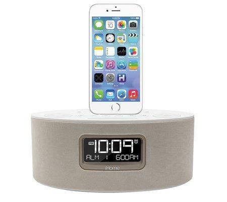 ihome idl46whc ipad iphone ipod dual charging stereo fm clock radio with ligh. Black Bedroom Furniture Sets. Home Design Ideas