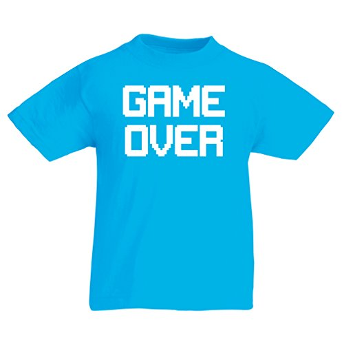 funny-t-shirts-for-kids-game-over-vintage-t-shirts-funny-gamer-gifts-gamer-shirt-7-8-years-light-blu