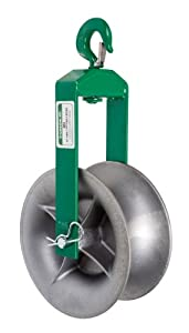 Greenlee 652 Hook Sheave, 4000-Pound Capacity, 18-Inch