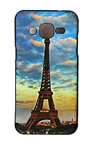 Saihan Soft Light Silicon TPU Back Case Cover for Samsung J2 Effiel Tower
