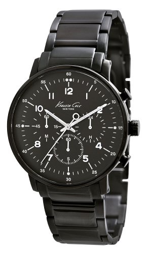 Kenneth Cole New York Men's KC9213 Dress Sport Triple Black Chronograph Date Watch