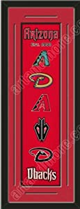Heritage Banner Of Arizona Diamondbacks With Team Color Double Matting-Framed Awesome... by Art and More, Davenport, IA