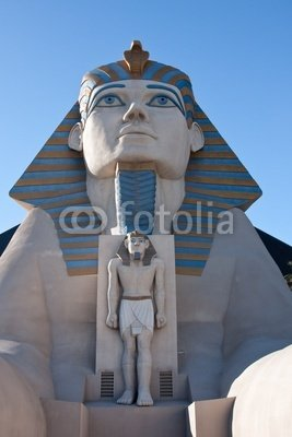"Wallmonkeys Peel and Stick Wall Decals - Sphinx Statue at the Luxor Hotel and Casino in Las Vegas - 36""H x 24""W Removable Graphic"