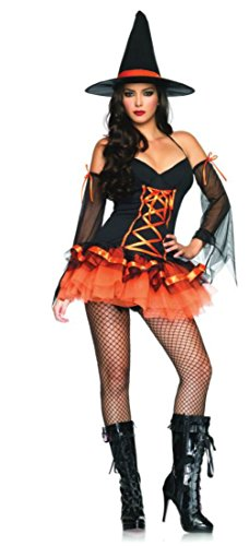 Leg Avenue Womens Hocus Pocus Hottie Witch Outfit Fancy Dress Sexy Costume