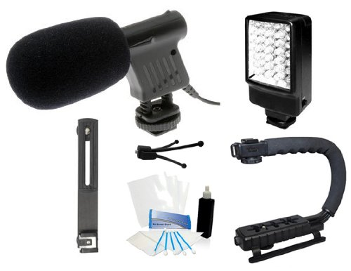 Beginner Dslr Microphone Stabilizer Led Video Light Accessories Kit For Nikon D7100 D7000 D5200 D5100 D3200 D3100 D800 D600 D90