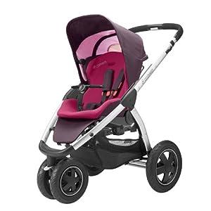 Maxi-Cosi 68005370 Mura 3 flexibles Travelsystem inklusive Einkaufskorb, Sonnenverdeck, Regenverdeck, Sonnenschirmclip und Adapter für Dreami und Babyschale, sweet cerise