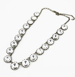 White Crystal Venus Flytrap Necklace