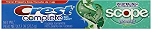 Crest Complete Whitening Plus Scope Toothpaste, Minty Fresh, 2.7 Ounce (Pack of 12)