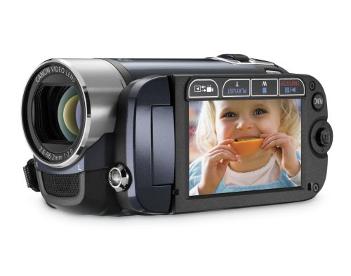 Canon FS200 Flash Memory Camcorder with 37x Optical Zoom (Evening Blue)