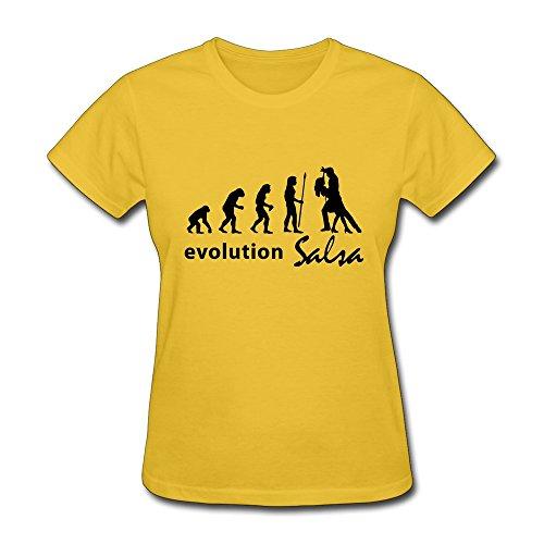 Zhitian Women'S Evolution Salsa T-Shirt - S Yellow