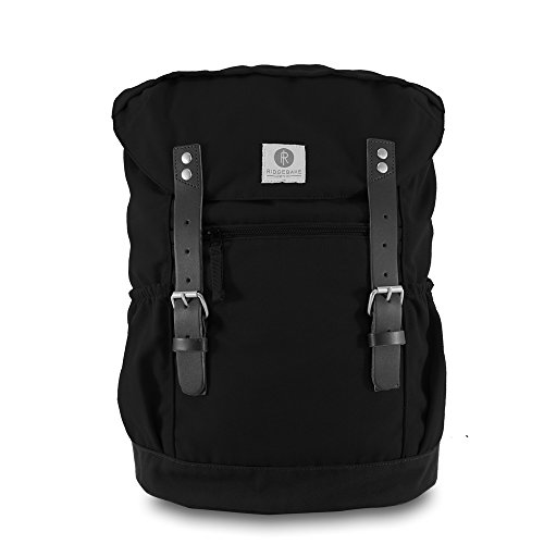 Ridgebake zaino caso OTONE CANVAS BLACK & BLACK nero Uomo Donna Bambini Laptop Backpack