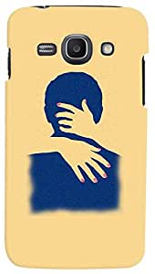 PrintVisa Hot Couple Case Cover for Samsung Galaxy Core I8260
