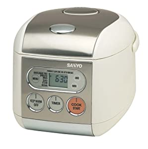 Sanyo ECJ-F50S Micro-Computerized 5-Cup (Uncooked) Rice Cooker and Steamer