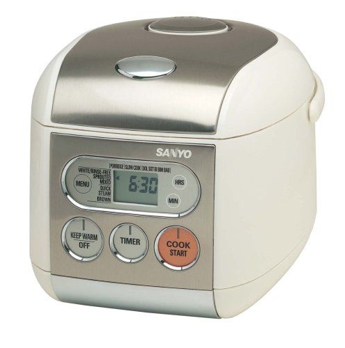 Sanyo ECJ-F50S Micro-Computerized 5-Cup Rice Cooker and Steamer