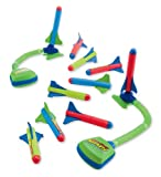 Zing Toys Deluxe Slam Shotz Rocket Launcher, Set of 2 with 10 Foam Rockets