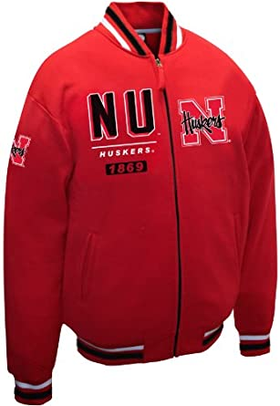 NCAA Nebraska Cornhuskers Mens Block Fleece Jacket by MTC Marketing