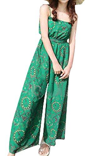 Womens Vintage Chiffon Long Slip Retro Draggle-Tail Dress Dress Pants