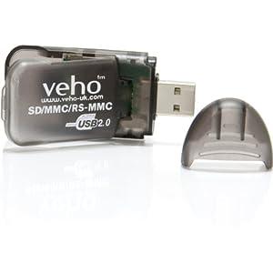 Veho VSD-001 - Card reader - all-in-1 ( MMC, SD, RS-MMC, SDHC ) - USB