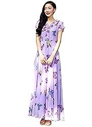 Isha Enterprise Women's Georgette Purple Kurti