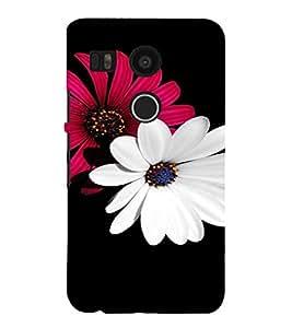 PrintVisa Flower Design 3D Hard Polycarbonate Designer Back Case Cover for LG Google Nexus 5X