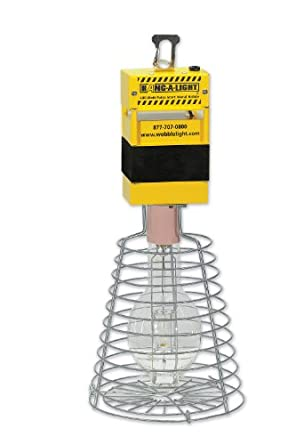 Hang-A-Light HL400PS 400w Pulse Start Metal Halide 24-Inch Tall Temporary Work Light, Yellow