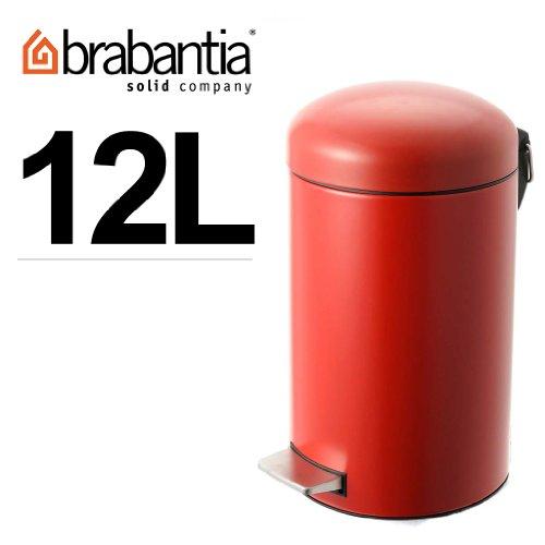 (ブラバンシア)Brabantia 47 90 69(48 37 83) RETRO BIN(レトロ ビン) Deep Red 12L [並行輸入品]