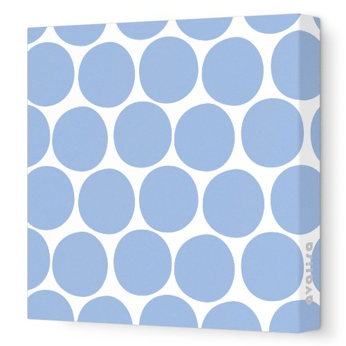 """Avalisa Stretched Canvas Nursery Wall Art, Dots, Blue, 18"""" X 18"""" front-1032010"""