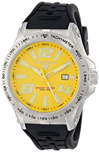 Swiss Legend Men's 10043-07 Sprint Racer Watch with Yellow Dial and Black Silicone Strap